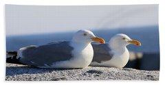 Herring Gulls, Nova Scotia Bath Towel