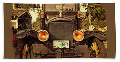 Hey A Model T Ford Truck Bath Towel