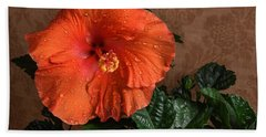 Hibiscus Fine Art Bath Towel