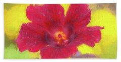 Hibiscus Flower Bloom Malvaceae 001 Hand Towel