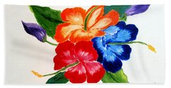Hand Towel featuring the painting Hibiscus by Jamie Frier