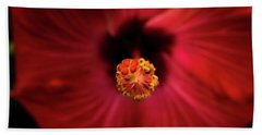 Hibiscus Bath Towel by Jay Stockhaus
