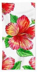 Hibiscus Magic Garden Bath Towel