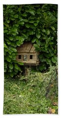 Hidden Birdhouse Bath Towel