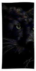 Bath Towel featuring the digital art Hidden Cat by Darren Cannell