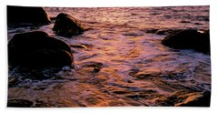 Hidden Cove Sunset Redwood National Park Hand Towel by Ed  Riche