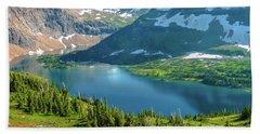 Hidden Lake Glacier National Park Bath Towel