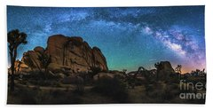 Hidden Valley Milky Way Panorama Bath Towel