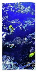Hiding Fish Hand Towel by Joan  Minchak