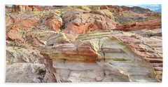 High Above Valley Of Fire Bath Towel by Ray Mathis