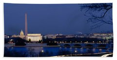 High Angle View Of Government Buildings Hand Towel by Panoramic Images