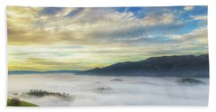 High Clouds Above Fog Hand Towel
