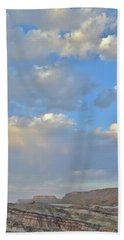 High Clouds Over Caineville Wash Bath Towel