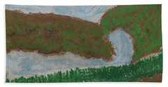 Hand Towel featuring the painting High Country  by Don Koester