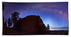 Hand Towel featuring the photograph High Desert Dawn by Leland D Howard