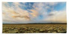 Bath Towel featuring the photograph High Desert Morning by Ryan Manuel