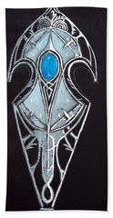 High Elven Warrior Shield  Hand Towel