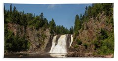 High Falls At Tettegouche State Park Bath Towel