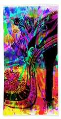 High Heel Heaven Abstract Bath Towel