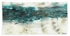 Hand Towel featuring the painting High Tide by Carmen Guedez