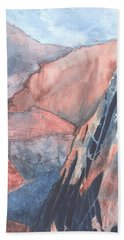 Hand Towel featuring the painting Higher Ground by Lynn Quinn