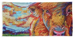 Bath Towel featuring the painting Highland Breeze by Jenn Cunningham