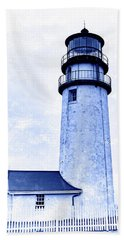 Highland Lighthouse Cape Cod Blue Hand Towel by Marianne Campolongo