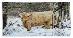 Highlander In Winter Hand Towel