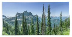Highline Trail Panoramic - Glacier National Park Bath Towel