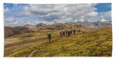 Hiking At 13,000 Feet Hand Towel
