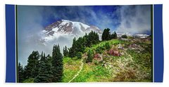 Hiking Rainier Bath Towel