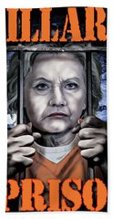 Hildabeast Hand Towel by Don Olea