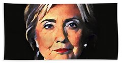 Hillary Clinton Hand Towel by Dan Sproul