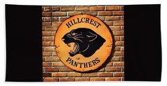 Hillcrest Elementary Panthers Sign Bath Towel