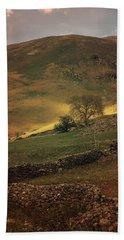 Hills Of Scotland At The Sunset Bath Towel by Jaroslaw Blaminsky