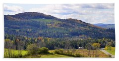 Hand Towel featuring the photograph Hills Of Vermont by Corinne Rhode