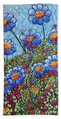 Hillside Blues Hand Towel by Holly Carmichael