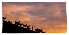 Hand Towel featuring the photograph Hillside Elk by Darren White