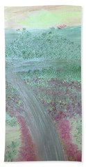Hand Towel featuring the painting Hillside by Karen Nicholson