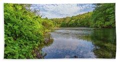 Hillside Pond Milton Massachusetts Bath Towel