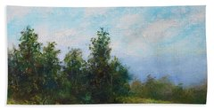 Hilltop Trees Bath Towel by Kathleen McDermott