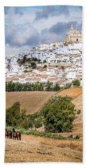 Hilltop Village Of Olvera Bath Towel