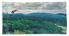 Hilly Landscape Hand Towel