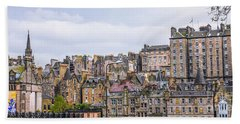 Hilly Skyline Of Edinburgh Bath Towel