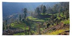 Himalayan Stepped Fields - Nepal Bath Towel