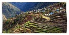 Himalayan Terraced Fields Bath Towel