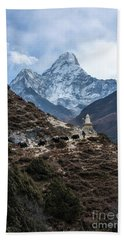 Hand Towel featuring the photograph Himalayan Yak Train by Mike Reid