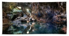 Bath Towel featuring the photograph Hinagdanan Cave by Yhun Suarez
