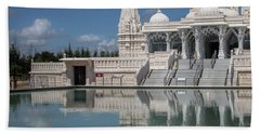 Bath Towel featuring the photograph Hindu Temple by James Woody