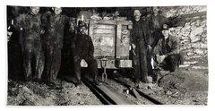 Hine: Coal Miners, 1911 Hand Towel